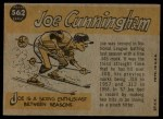 1960 Topps #562   -  Joe Cunningham All-Star Back Thumbnail