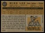 1960 Topps #521  Mike Lee  Back Thumbnail