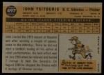 1960 Topps #497  John Tsitouris  Back Thumbnail