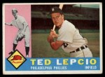 1960 Topps #97  Ted Lepcio  Front Thumbnail
