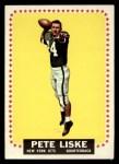 1964 Topps #117  Pete Liske  Front Thumbnail