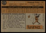 1960 Topps #113  Bob Skinner  Back Thumbnail
