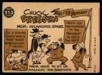 1960 Topps #213  Chuck Dressen  Back Thumbnail