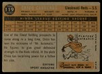 1960 Topps #119   -  Leo 'Chico' Cardenas Rookie Star Back Thumbnail