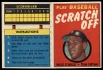 1971 Topps Scratch Offs #21  Willie Stargell      Front Thumbnail