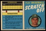 1971 Topps Scratch Offs #4  Sal Bando    Front Thumbnail
