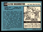 1964 Topps #129  Clyde Washington  Back Thumbnail