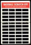 1970 Topps Scratch Offs #15  Claude Osteen    Back Thumbnail