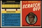 1970 Topps Scratch Offs #7  Nate Colbert  Front Thumbnail