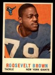 1959 Topps #114  Roosevelt Brown  Front Thumbnail
