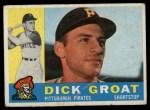 1960 Topps #258  Dick Groat  Front Thumbnail