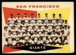 1960 Topps #151   Giants Team Checklist Front Thumbnail