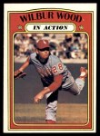 1972 Topps #554   -  Wilbur Wood In Action Front Thumbnail
