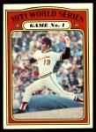 1972 Topps #223   -  Dave McNally 1971 World Series - Game #1 Front Thumbnail