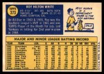 1970 Topps #373  Roy White  Back Thumbnail
