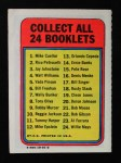 1970 Topps Booklets #13  Orlando Cepeda  Back Thumbnail