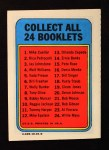 1970 Topps Booklets #18  Rusty Staub  Back Thumbnail