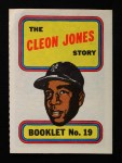 1970 Topps Booklets #19  Cleon Jones  Front Thumbnail