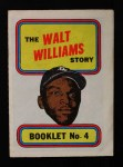 1970 Topps Booklets #4  Walt Williams  Front Thumbnail