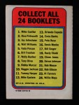 1970 Topps Booklets #11  Tommy Harper  Back Thumbnail