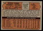 1972 Topps #463  Bernie Carbo  Back Thumbnail