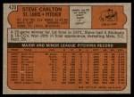 1972 Topps #420  Steve Carlton  Back Thumbnail