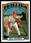 1972 Topps #599  Billy Champion  Front Thumbnail