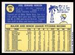 1970 O-Pee-Chee #35  Joel Horlen  Back Thumbnail