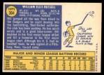 1970 Topps #304  Bill Russell  Back Thumbnail