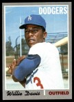 1970 Topps #390  Willie Davis  Front Thumbnail