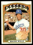 1972 Topps #437  Maury Wills  Front Thumbnail