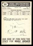 1959 Topps #90  Zeke Bratkowski  Back Thumbnail