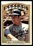 1972 Topps #578  Billy Grabarkewitz  Front Thumbnail