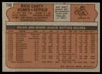 1972 Topps #740  Rico Carty  Back Thumbnail