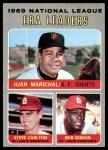 1970 Topps #67   -  Steve Carlton / Bob Gibson / Juan Marichal NL ERA Leaders Front Thumbnail