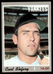 1970 Topps #297  Curt Blefary  Front Thumbnail