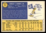 1970 Topps #219  Jerry Kenney  Back Thumbnail