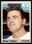 1970 Topps #287  Fred Talbot  Front Thumbnail