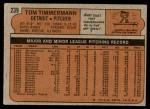 1972 Topps #239  Tom Timmermann  Back Thumbnail