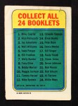 1970 Topps Booklets #20  Deron Johnson  Back Thumbnail