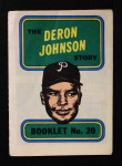 1970 Topps Booklets #20  Deron Johnson  Front Thumbnail