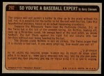 1972 Topps #292   -  Hal McRae In Action Back Thumbnail
