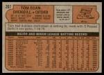 1972 Topps #207  Tom Egan  Back Thumbnail