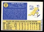 1970 Topps #89  Juan Rios  Back Thumbnail