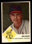 1963 Fleer #60  Ken Boyer  Front Thumbnail