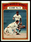 1972 Topps #224   -  Davey Johnson / Mark Belanger 1971 World Series - Game #2 Front Thumbnail