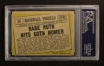 1961 Topps #401   -  Babe Ruth Hits 60th Homer Back Thumbnail