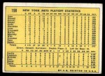 1970 Topps #198  Nolan Ryan / Tommie Agee / Duffy Dyer 1969 NL Playoff - Summary - Mets Celebrate Back Thumbnail