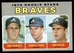 1970 Topps #621   -  Darrell Evans / Mike McQueen / Rick Kester Braves Rookies Front Thumbnail