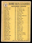 1970 Topps #65   -  Hank Aaron / Willie McCovey / Lee May NL HR Leaders Back Thumbnail